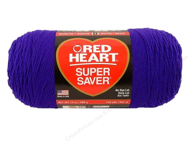 Red Heart Super Saver Jumbo Yarn #0356 Amethyst 14 oz.