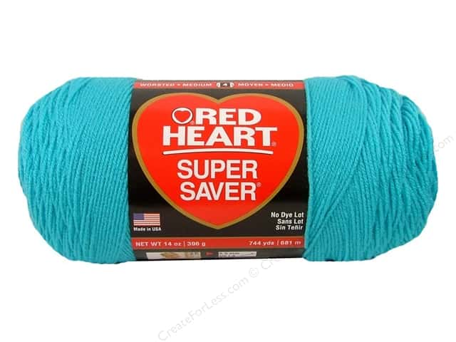 Red Heart Super Saver Jumbo Yarn #0512 Turquoise 14 oz.