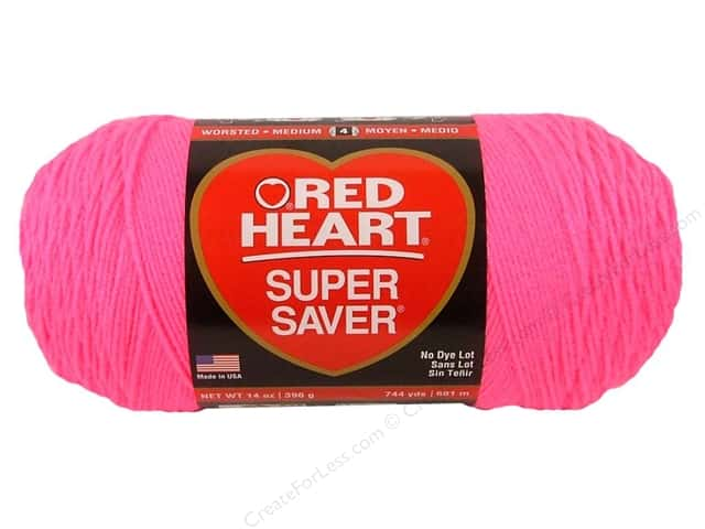 Red Heart Super Saver Jumbo Yarn #0722 Pretty N Pink 14 oz.