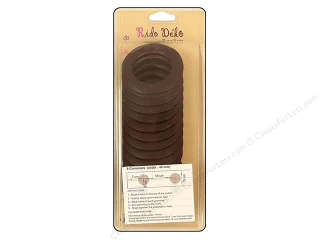 Rido Deko Grommet 40mm Matte Brown 8pc