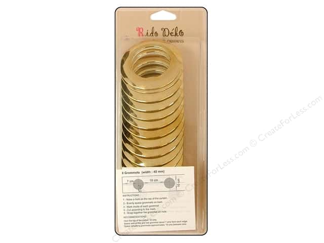 Rido Deko Grommet 40mm Shiny Gold 8pc