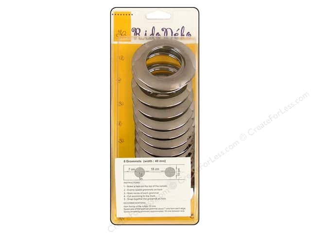 Rido Deko Grommet 40mm Pewter 8pc