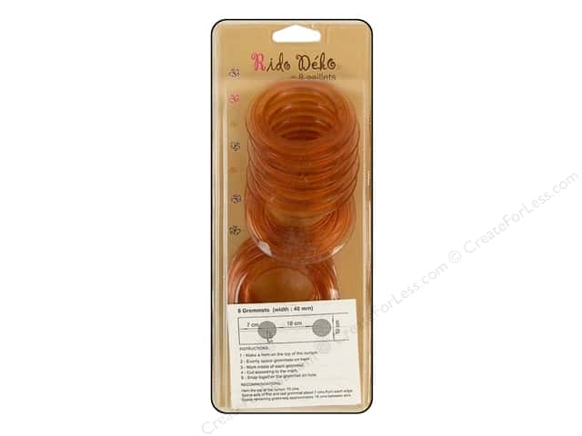 Rido Deko Grommet 40mm Transparent Root Beer 8pc