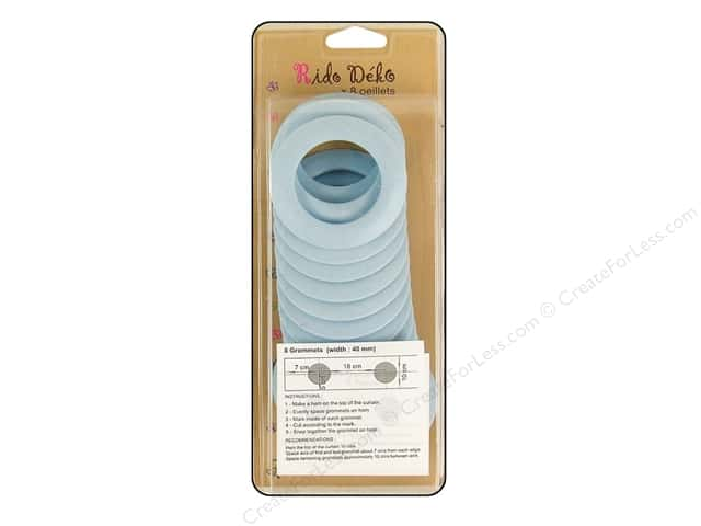 Rido Deko Grommet 40mm Matte Light Blue 8pc