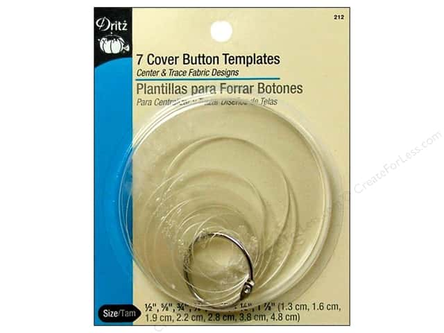 Dritz Cover Button Templates 7pc