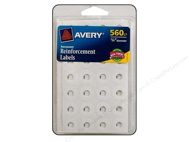 Avery Reinforcement Labels 560 pc. White