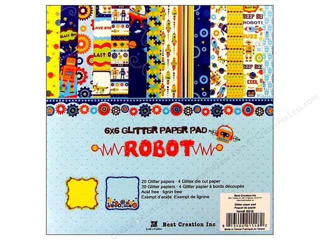 "Best Creation Paper Pad 6""x 6"" Robot"