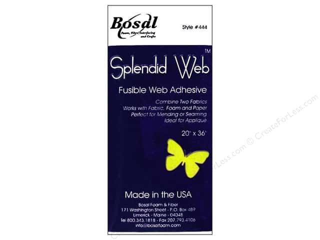 "Bosal Fusible Web Adhesive Splendid 20""x 36"" Packaged Clear"