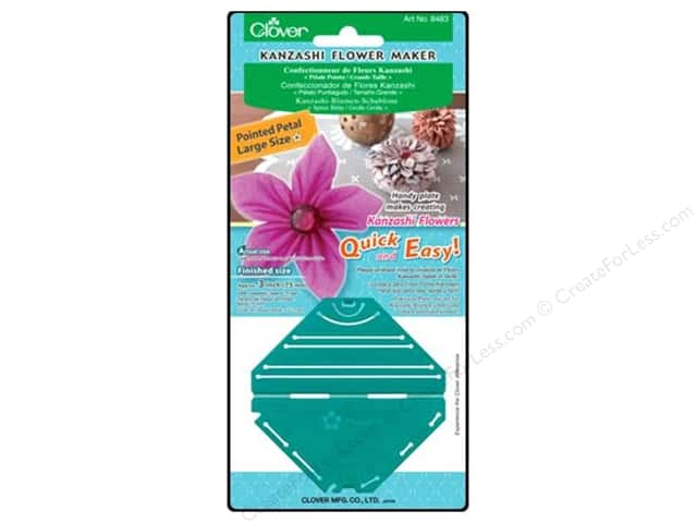 Clover Kanzashi Flower Maker Pointed Petal Large