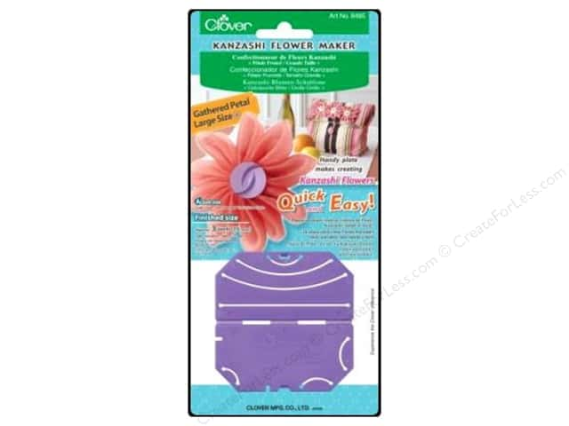 Clover Kanzashi Flower Maker Gathered Petal Large