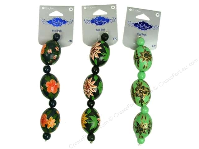 Blue Moon Beads Boutique Select Wood Hand Paint #1 Multi