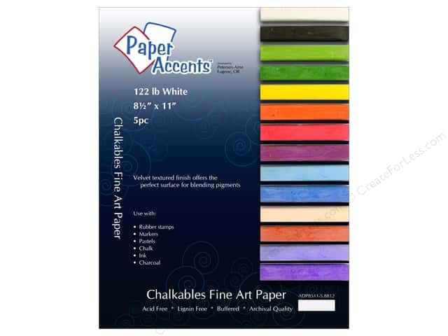 Cardstock 8 1/2 x 11 in. #8812 Chalkable White 5 pc. by Paper Accents