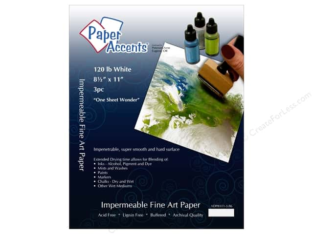 Cardstock 8 1/2 x 11 in. #86 One Sheet Wonder White 120 lb 3pc by Paper Accents