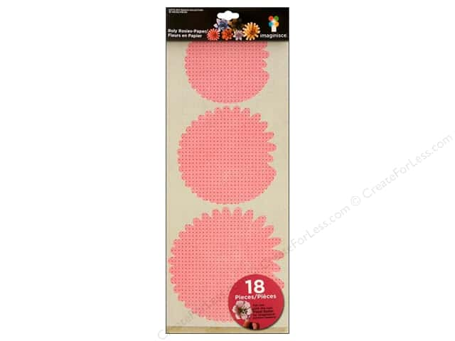 Imaginisce Flowers Roly Rosies Paper Warm Palette