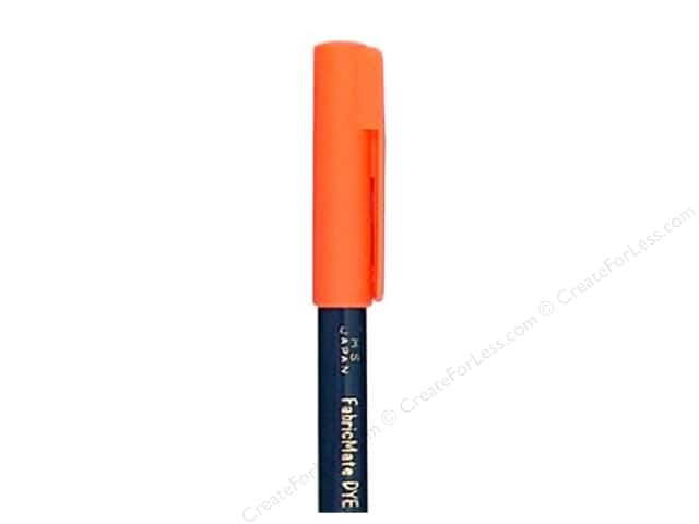 FabricMate Dye Markers Brush Tip Short Fluorescent Orange (3 pieces)