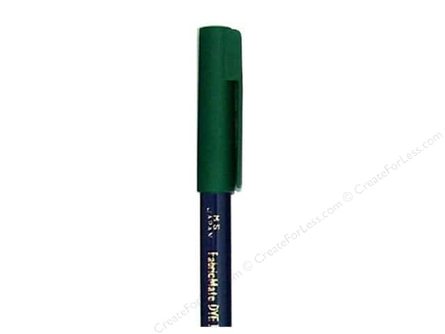 FabricMate Dye Markers Brush Tip Short Green (3 pieces)