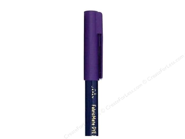 FabricMate Dye Markers Brush Tip Short Violet (3 pieces)