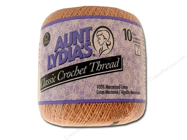 Aunt Lydia's Classic Cotton Crochet Thread Size 10 Copper Mist
