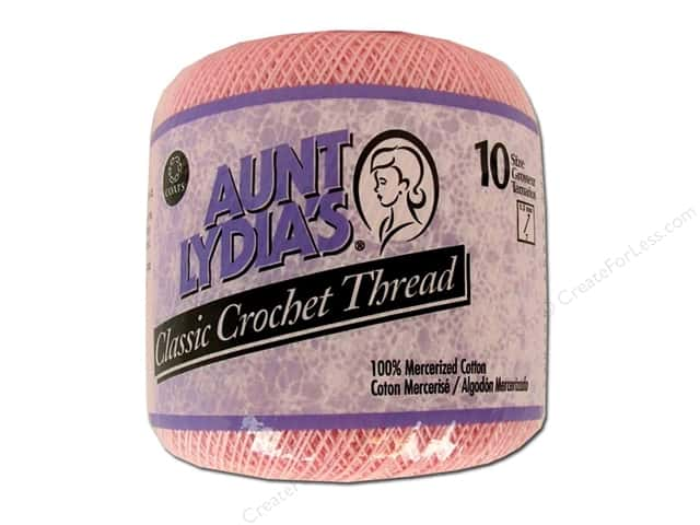 Aunt Lydia's Classic Cotton Crochet Thread Size 10 Orchid Pink