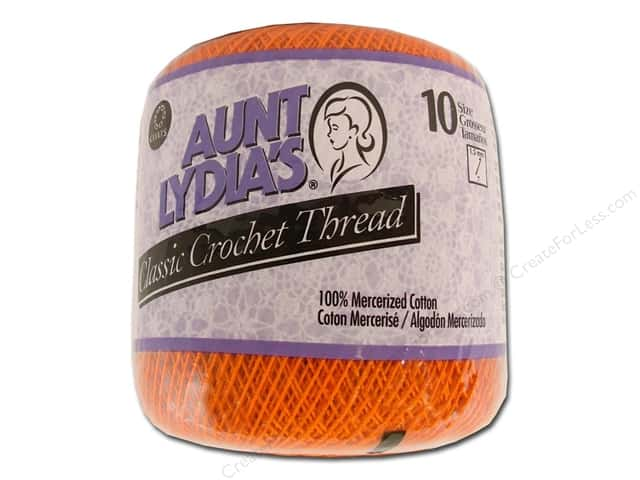 Aunt Lydia's Classic Cotton Crochet Thread Size 10 Pumpkin