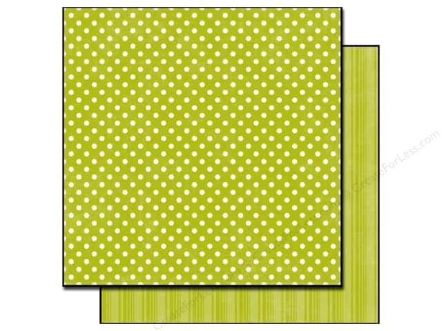 Echo Park 12 x 12 in. Paper Dots & Stripes Metropolitan Collection Leaf Small Dot (25 sheets)