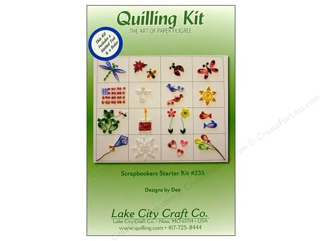 Lake City Crafts Quilling Kit Scrapbookers Starter