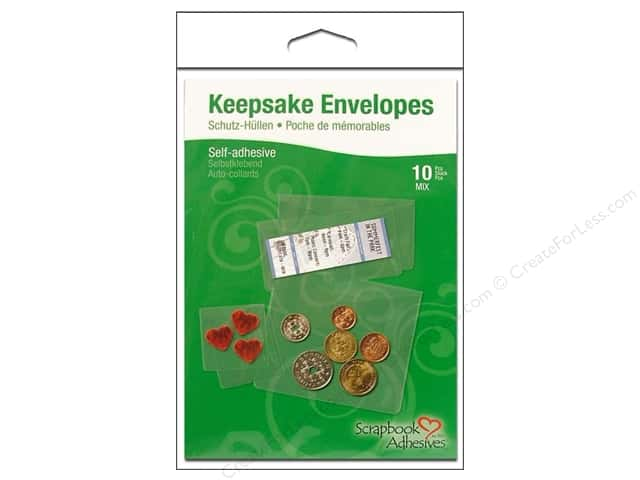 3L Scrapbook Adhesives Keepsakes Envelopes 10 pc. Assorted