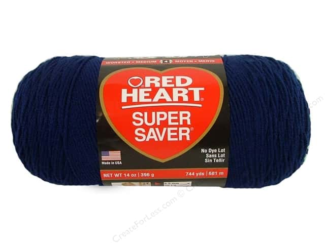 Red Heart Super Saver Jumbo Yarn #387 Soft Navy 744 yd.
