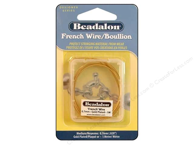 Beadalon French Wire Medium .7mm ID 1M Gold
