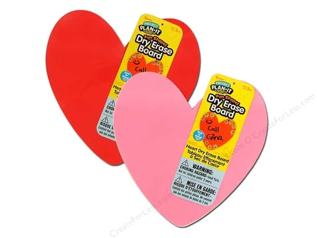 Darice Dry Erase Board Foam Heart Assorted