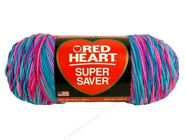 Red Heart Super Saver Jumbo Yarn #0784 Bon Bon 10 oz.