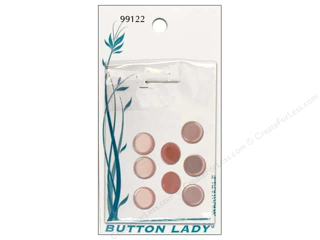 JHB Button Lady Buttons 1/2 in. Pink #99122 8 pc.