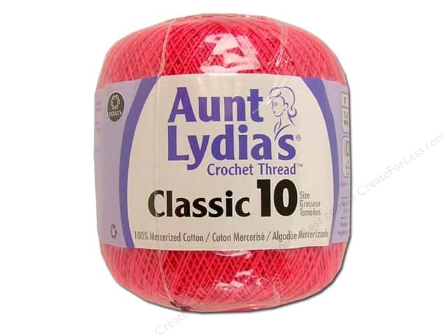 Aunt Lydia's Classic Cotton Crochet Thread Size 10 Hot Pink