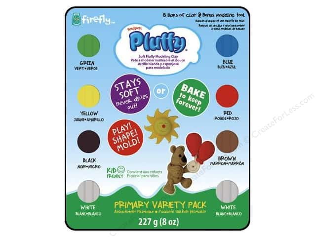 Sculpey Pluffy Oven-Bake Clay Variety Pack 8 pc. Primary