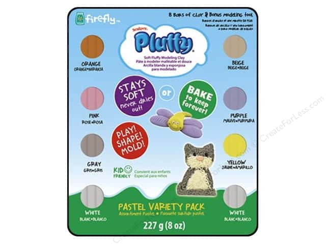 Sculpey Pluffy Oven-Bake Clay Variety Pack 8 pc. Pastel