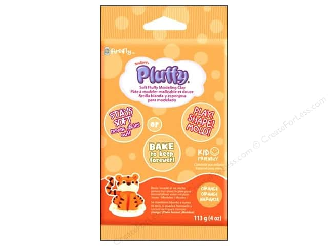 Sculpey Pluffy Clay 4oz Orange