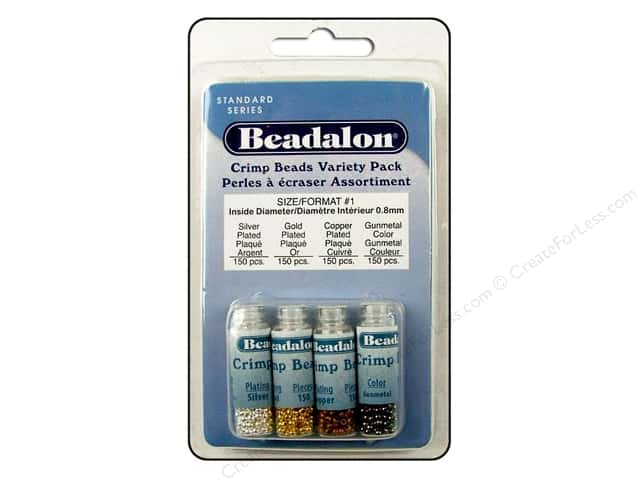 Beadalon Crimp Tubes Variety Pack Size 1 600pc