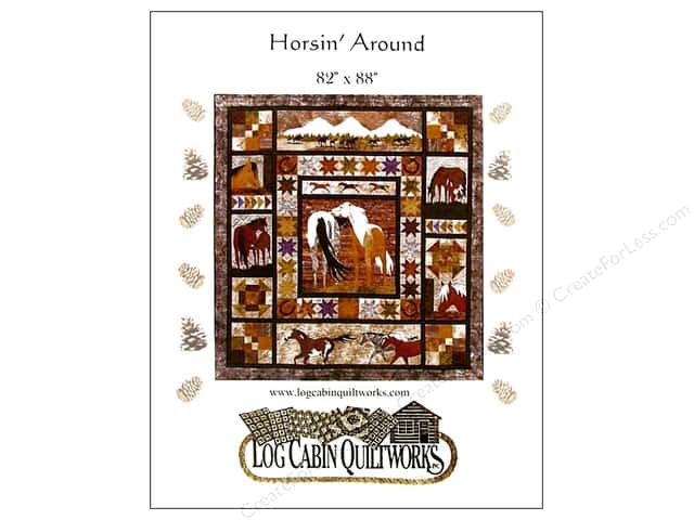 Log Cabin Quiltworks Horsin Around Pattern