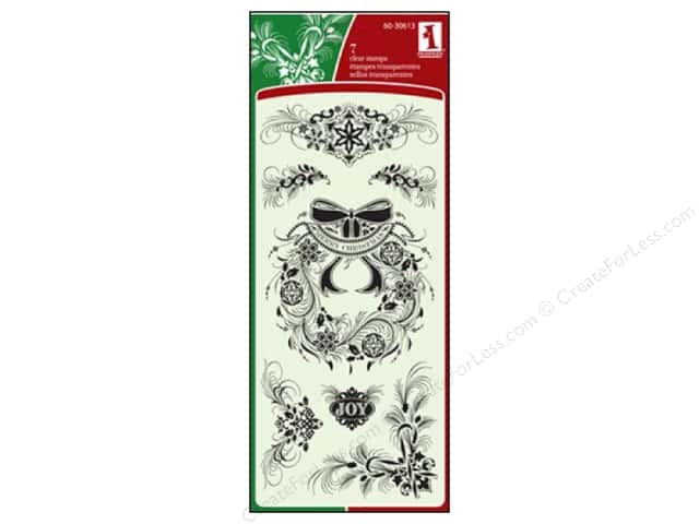 Inkadinkado Clear Stamp Calligraphy Holiday Flourish