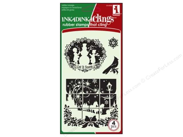 Inkadinkado InkadinkaClings Rubber Stamp Winter Wonderland