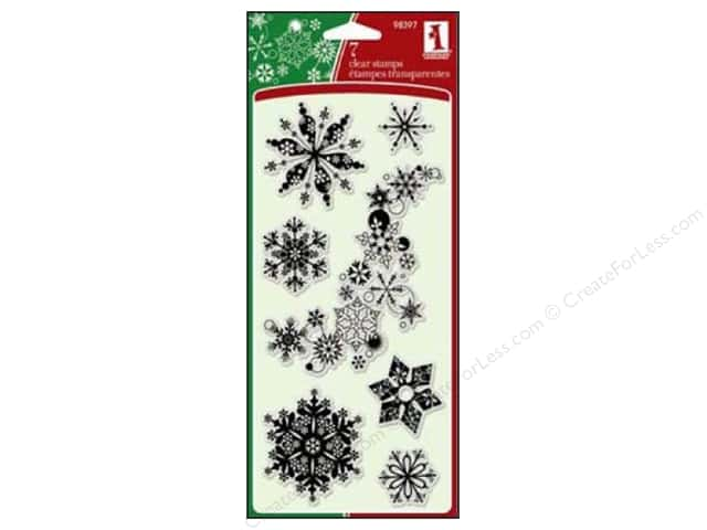 Inkadinkado InkadinkaClings Clear Stamp Snowflakes A Plenty