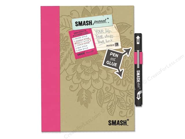 K&amp;Company Smash Journal Folio Pretty Pink Large Image