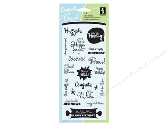 Inkadinkado Clear Stamp Celebration Expressions