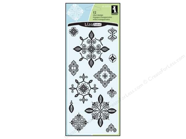 Inkadinkado Clear Stamp Batik Cartouches