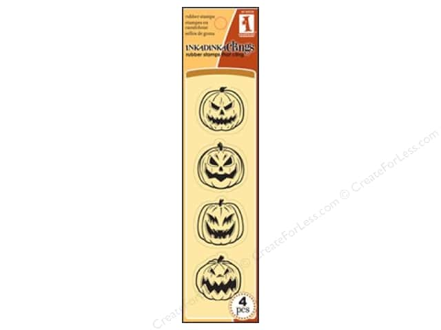 Inkadinkado Inkadinkaclings Stamp Scary Pumpkins