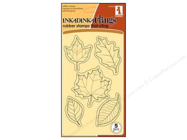 Inkadinkado Stamp Inkadinkaclings Fall Leaves