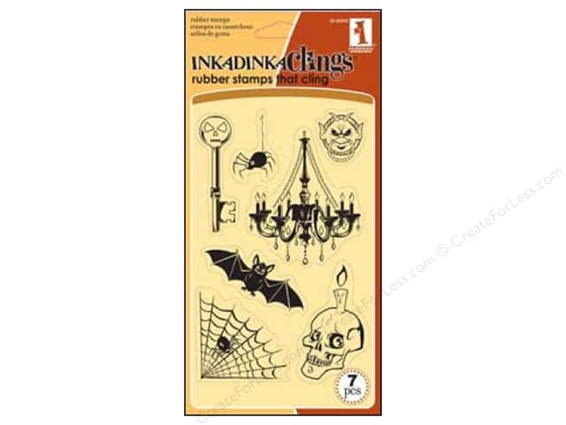 Inkadinkado InkadinkaClings Rubber Stamp Haunted Night