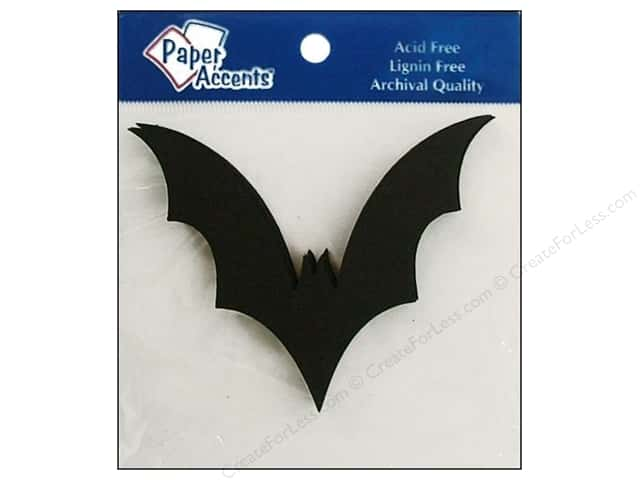 Paper Accents Chip Shape Bat Black 8pc