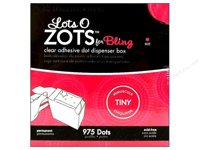 "Therm O Web Zots Dispenser Box Bling Tiny 1/8""x 1/64"" 975pc"