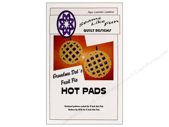 Seams Like Fun Design Grandma Dot's Fruit Pie Hot Pads Pattern